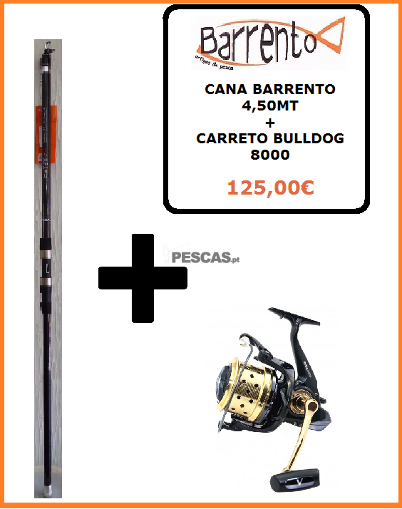 CANA BARRENTO 4,50MT + CARRETO BULLDOG 8000