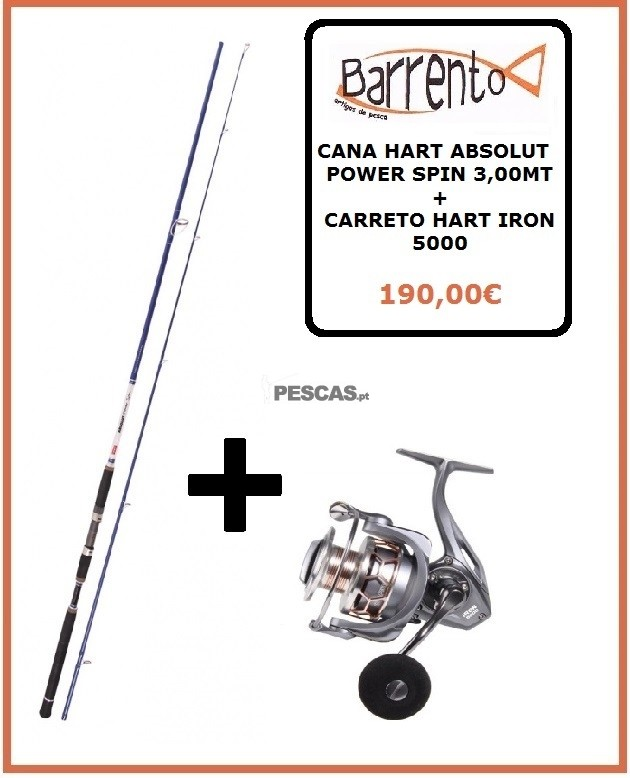 CANA HART ABSOLUTE POWER SPIN 3,00MT + CARRETO HART IRON 5000