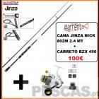 JINZA NICK 802 M - 2,40MT + CARRETO BZX 450