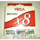 VEGA BRAID X8 MULTICOLOR 150 MT