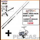 JINZA NICK 802 M - 2,40MT + CARRETO NEXAVE C5000 HG FE